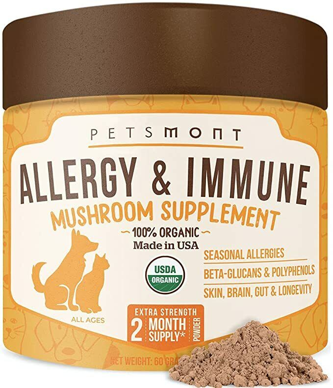 Allergy Relief Pets Immune Supplement Powder Turkey Tail Mushroom FOR DOGS CATS - $16.95