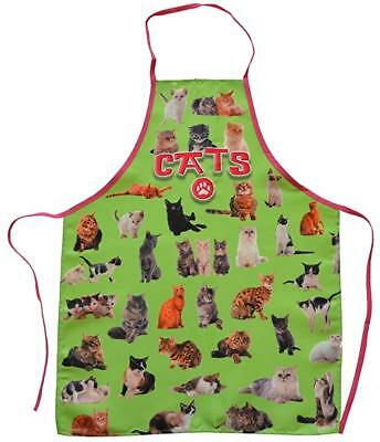 Cats Green Funny BBQ Kitchen Novelty Apron For Men/Women