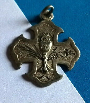 Antique Medal Holy Communion in Silver