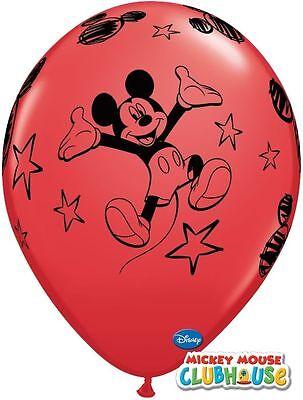 6 rote Luftballons Micky Maus 11