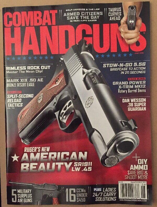 Combat Handguns Ruger American Beauty SR1911 LW .45 June 2015 FREE SHIPPING!