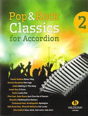 Pop & Rock Classics for Accordion 2 Songbook Noten für Akkordeon