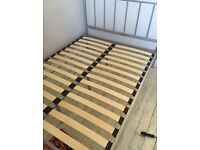John Lewis double bed frame in silver