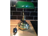 Traditional style, bankers table/desk lamp