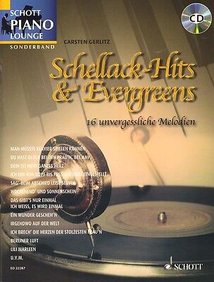Schott Piano Lounge Schellack-Hits & Evergreens Klavier Noten CD Carsten Gerlitz