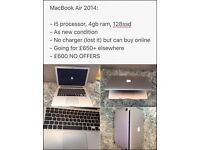 MacBook Air 2014, As new condition. Reluctant sale. Fully working.