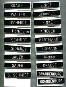 Bundeswehr:Namensschild,PVC-schwarz.15 x 80 mm.