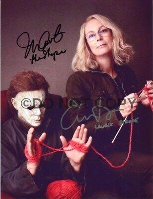 Halloween 2018 Michael Myers Jamie Lee Curtis/Nick Castle Autographed Reprint - Lee Curtis Halloween