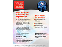 Have you suffered from depression? Participate in our neuroimaging research study (150GBP)!