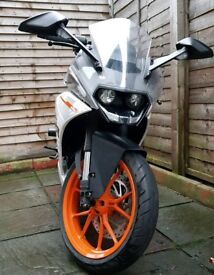 KTM RC390 2016 full KTM Service History, Cat 1 alarm and lots of extras!