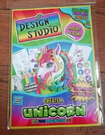 Brand new Design a studio create a unicorn activity pack