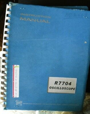 Tektronix R7704 Oscilloscope .. Instruction Manual
