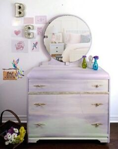 Waterfall Vanity table /Dresser