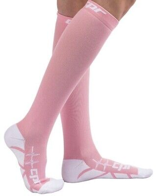 CPR Socks Size XL Compression Socks Pink Diabetic Nurse Cross Fit Vein