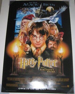 HARRY POTTER AND THE SORCERER'S STONE DVD MOVIE POSTER 1 Sided ORIGINAL 27x40 comprar usado  Enviando para Brazil