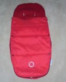 Red bugaboo footmuff