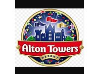 Alton towers tickets x2 22/09/16
