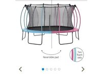 New Plum 14 ft trampoline can be pink or blue