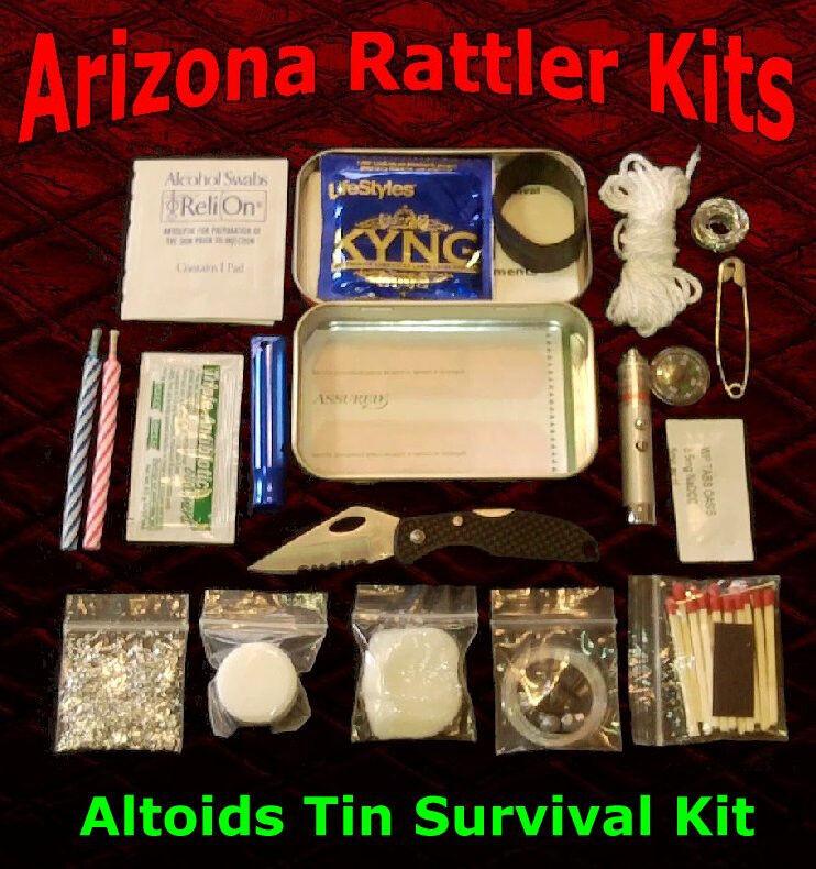 "Altoids Tin Survival Kit ""SUPERIOR VALUE & QUALITY"" pocket survival camping tool"