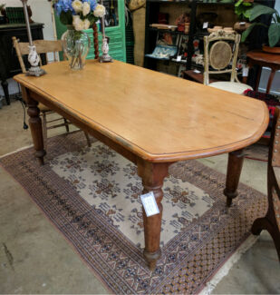 Vintage Kauri Dining Table Antique Rustic Kitchen Table