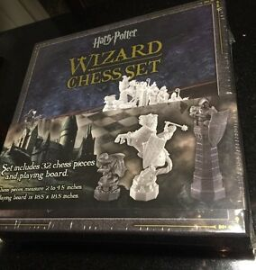 Harry Potter Chess Final Challenge Sorcerer's stone Wizard Set Noble Collection
