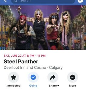 Steel Panther Tickets (4)