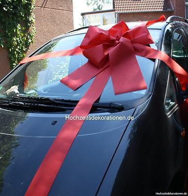 Geschenkschleife Auto rot fertig gebunden