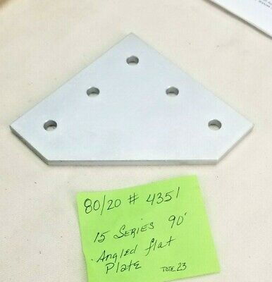 8020 Aluminum 5 Hole 90 Joining Plate 15 Series Pn 4351
