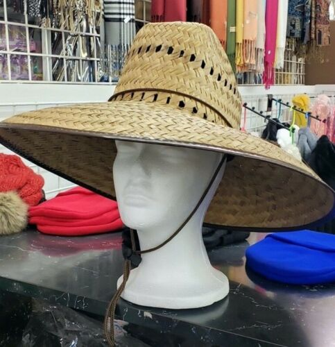 Lifeguard Palm Straw Hat Extra Wide Brim !4 Different Styles! Sombrero