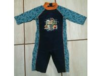 All in one swim suit age 4-5 years.