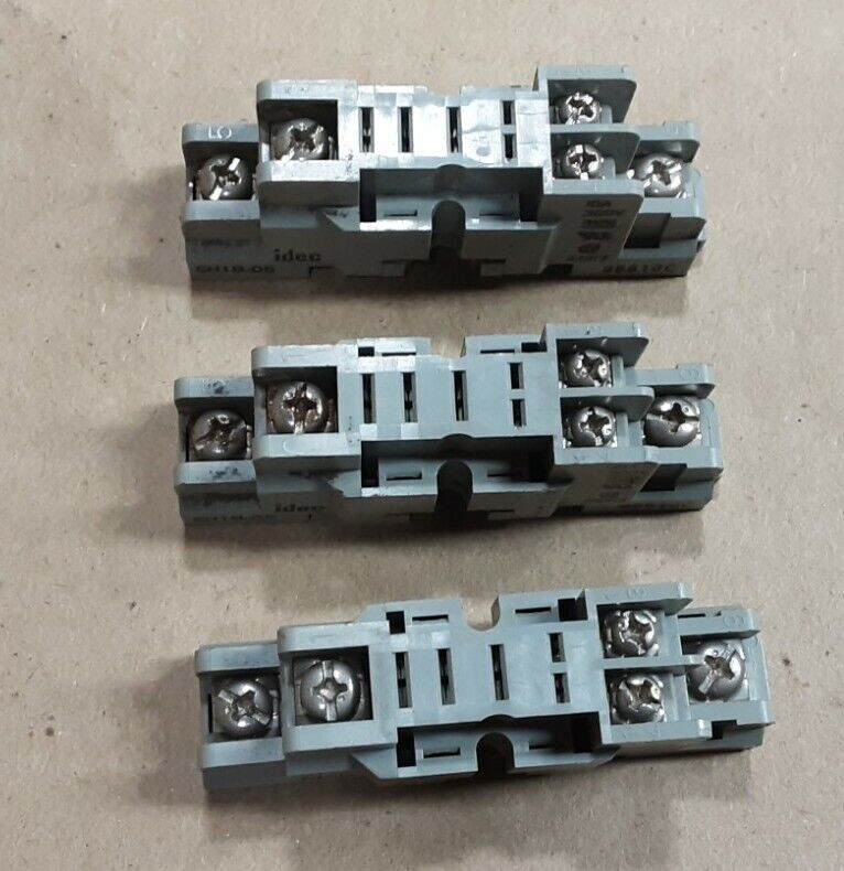 Lot of 3 Idec SH1B-05 Socket Relay Base #3005J23