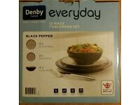 Denby Everyday 12 Piece Tableware Set New In Box