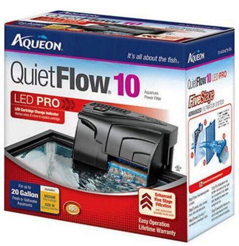 Aqueon  QUIET FLOW 10 POWER FILTER FOR AQUARIUMS