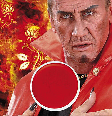 Rote Schminke Teufel Vampir Clown Karneval Theater Halloween Feuer Make up rot ()