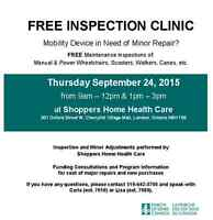 FREE INSPECTION CLINIC FOR YOUR MOBILITY DEVICES