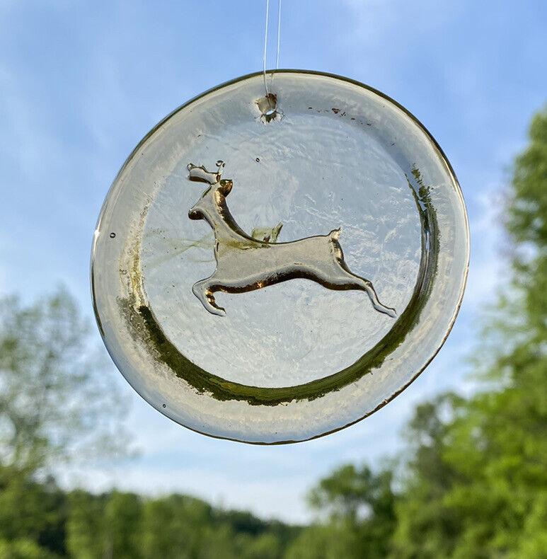 Blenko Glass Suncatcher - Deer - Bronze