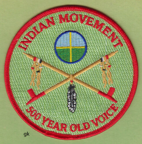 AIM INDIAN MOVEMENT  500 YEAR OLD VOICE TRIBAL SHOULDER PATCH