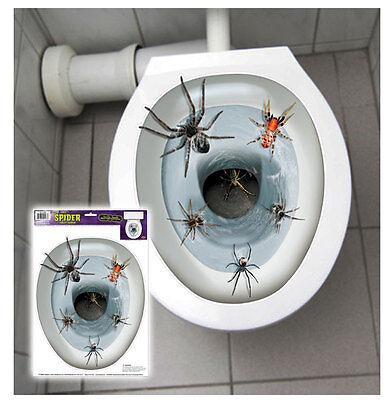 Gift Spinnen Plage in Ihrem WC Horror Krabbler kriechen aus Klo Halloween Hammer
