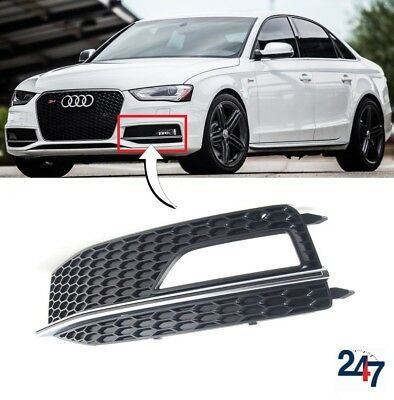 NEW GENUINE AUDI B9 S4 16-18 FRONT BUMPER LOWER AIR GUIDE GRILL LEFT N//S