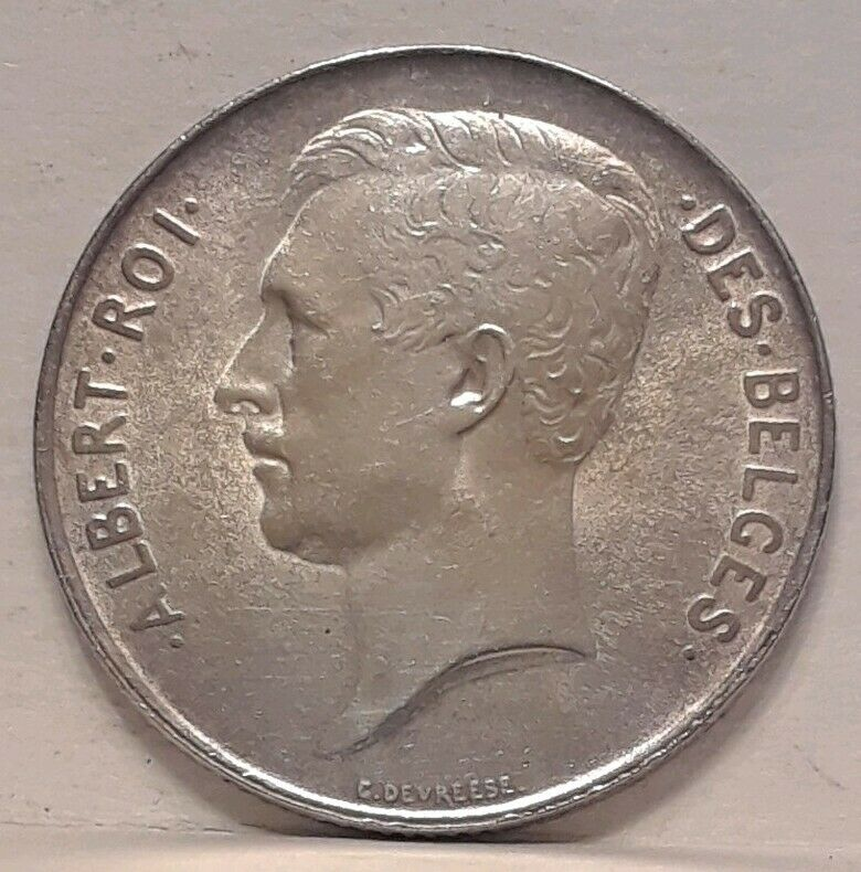 Belgium 1914 Franc Silver Coin Alignment BU