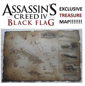Assassins-Creed-IV-4-Black-Flag-Map-Treasure-Map-New-Rare-Collectors-Item