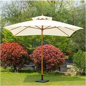 NEW Patio Garden Sun Umbrella / Parasol - 3m Double Tier.