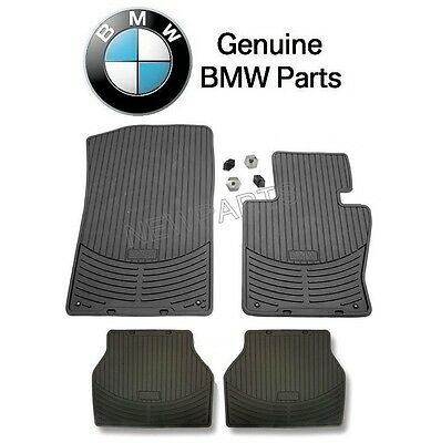 For BMW E83 X3 Pair Set of FrontRear Floor Mat Set All Weather Rubber Black OES