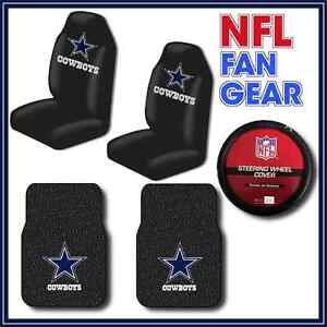 Dallas Cowboys 5pc Auto Set Seat Covers Rubber Floor Mats