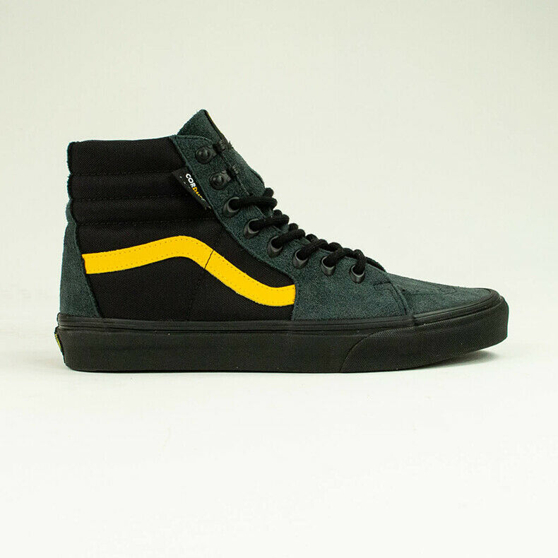 Details about Vans X Cordura Sk8 Hi Pro Trainers Shoes in BlackYellow UK Size 6,7,8,9,10,11