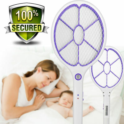 Electronic Rechargeable Fly Swatter Mosquito Racket Bug Zapper Mosquito Killer ()