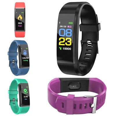 Fitness Armband Uhr Pulsmesser Wasserdicht Aktivitätstracker Schrittzähler