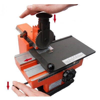 Updated Semi-automatic Nameplate Metal Label Stamping Printer Marking Machine Us