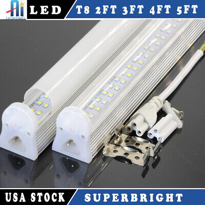 10pcs 4FT T8 LED Integrated Tube Light 22W  6000k Best Replace 60w with