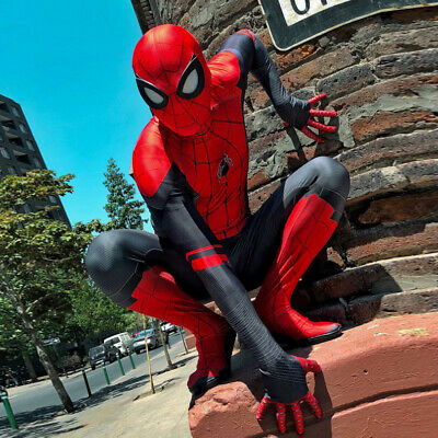 Marvel Spider-Man: Far From Home Overall Lycra Zentai Spiderman Bodysuit Zentai